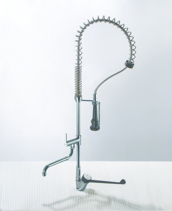 Pre-rinse showers for professional kitchen